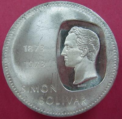 DOBLON moneda de Venezuela 10 Bolivares de 1973